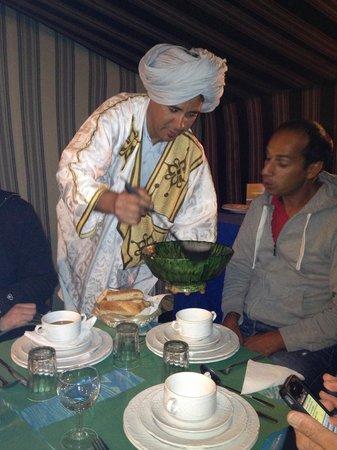 Bivouac Territori Nomada: Our host serving dinner