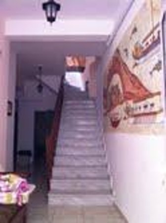 San Giorgio Villa : The staircase from first floor to basement