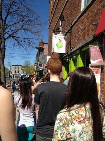 Kem Coba: The line up for ice-cream