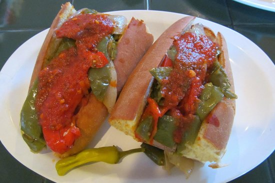 DeFalco's Italian Deli and Grocery: Italian sausage with peppers and onions