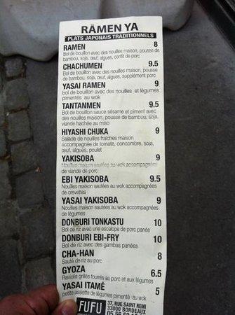 Fufu: menu