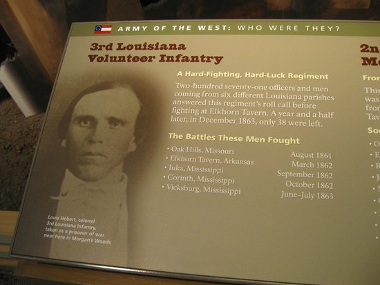 Pea Ridge National Military Park : Information on the 3rd Louisiana Regiment