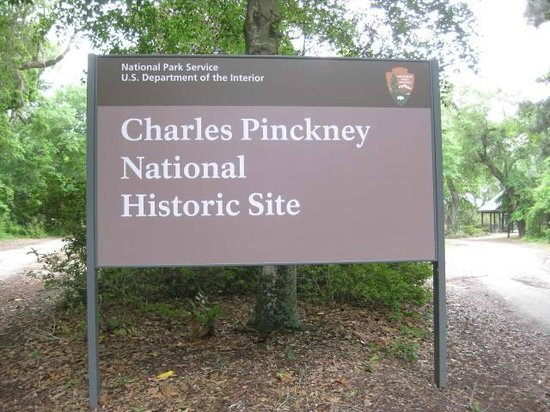 Charles Pinckney National Historic Site Road Sign