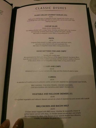 Gala casino leeds restaurant menu