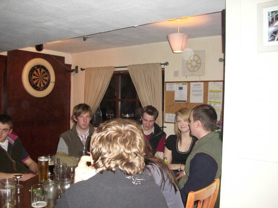 The Stoodleigh Inn: Youngsters enjoying a yarn