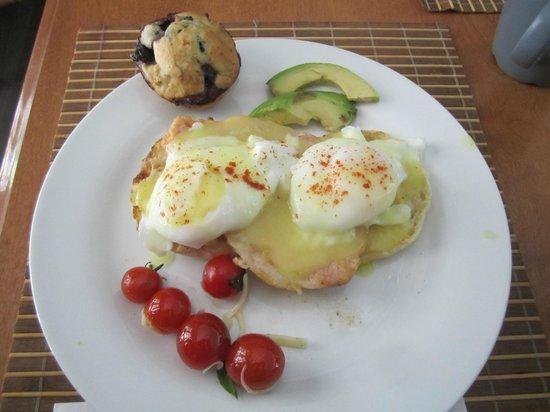 Three Wishes B&B : Eggs Benny- a favorite dish