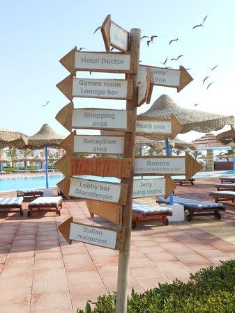 Fantazia Resort: CARTELLO CON LE INDICAZIONI