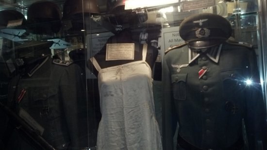 Gettysburg Museum of History : Eva Braun's lingerie flanked by two SS uniforms.