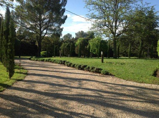 Mas de Rey : grote oprit met cypressen en lavendel