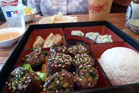Koi Sushi Bar and Asian Cuisine : Beef Negimaki Luncheon Special