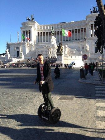 Segway Fun Rome: Monnument of Vittorio Emanuele
