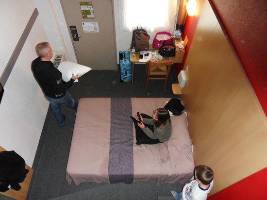 B&B Hotel BORDEAUX Merignac Airport: le bas avec 1 lit double