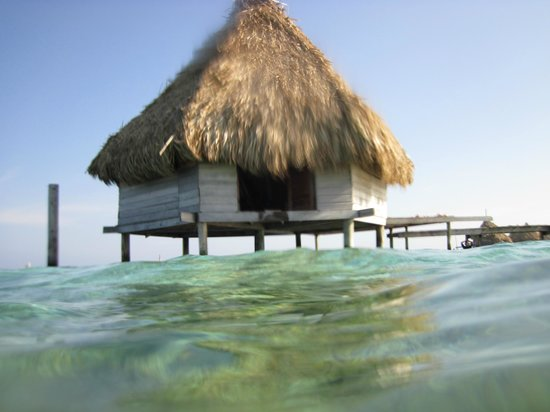 Glover's Atoll Resort: over the water bungalows