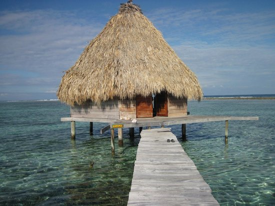 Glover's Atoll Resort: over the water bungalow