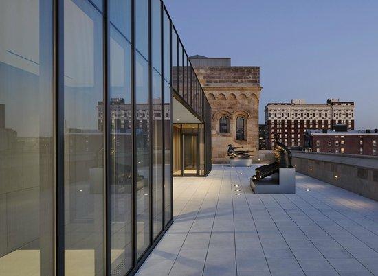 Rooftop sculpture terrace, Yale University Art Gallery ...