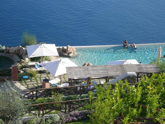 Monastero Santa Rosa Hotel & Spa: the pool from our room