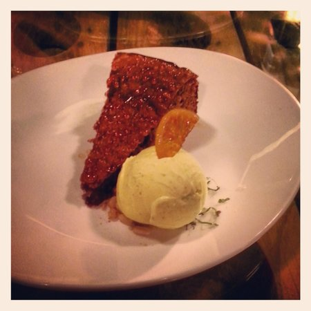 Saffron Mediterranean Kitchen: Date Cake - paired so well with the Tawny Port