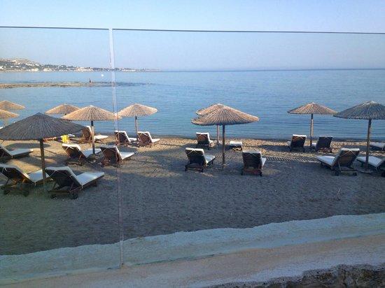 Seaside Sunrise Hotel: la plage vue de la terrasse du bar