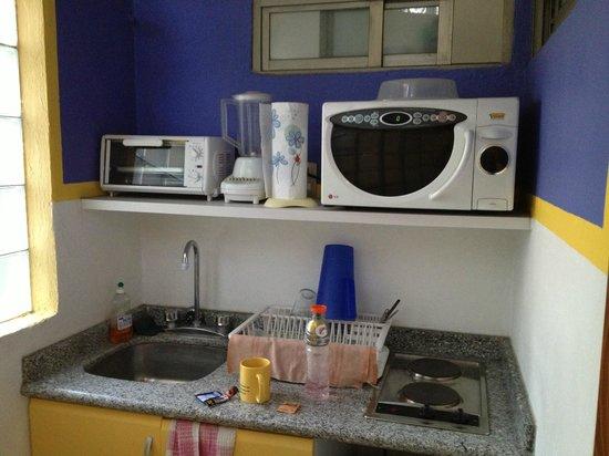 Chalet del Carmen: kitchenette in corridor