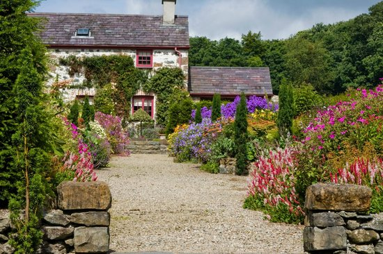Menai Bridge, UK: Pretty Garden Cottage and colourful summer borders