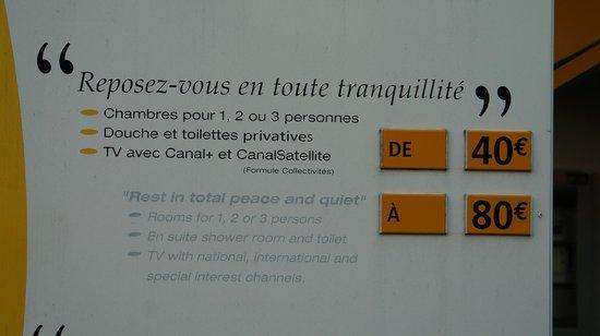 Premiere Classe Versailles - St-Cyr-L'Ecole : Publicité mensongère