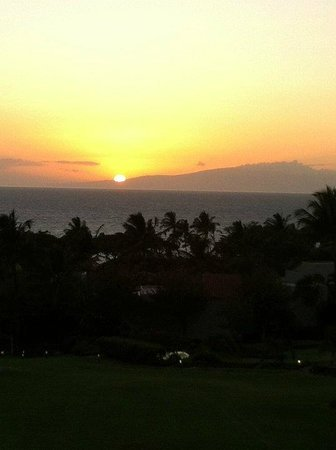 Palms at Wailea: Another Sunset seen from the Lanai