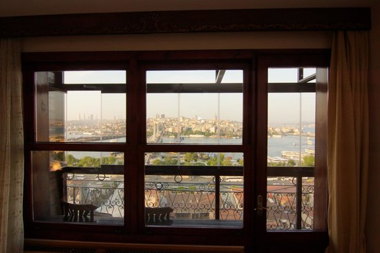 Golden Horn Guesthouse: View from room (covered balcony in foreground)