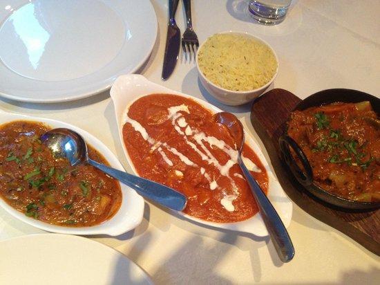 Le Raj spice: The main courses