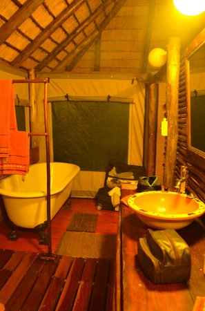 Muweti Bush Lodge: bathroom