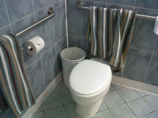 Tropics Hotel & Hostel: el baño limpio pero deprimente