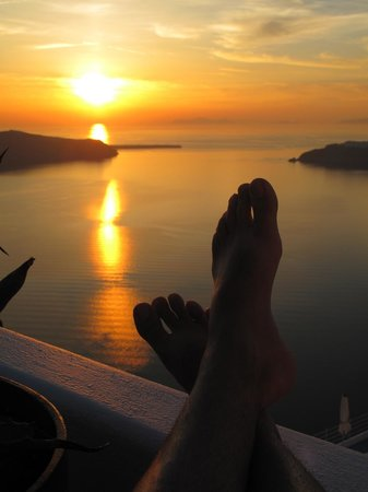 Grace Santorini Hotel: Beautiful Sunset