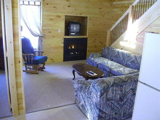 45th Parallel Cabins: Cabin Living Room