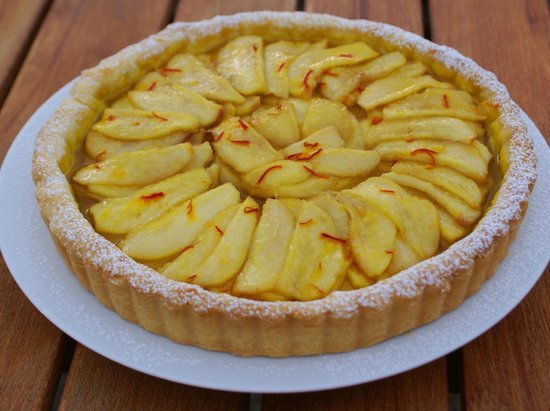 The Summit Lodge: home cooking and baking - this is our pear and saffron tart