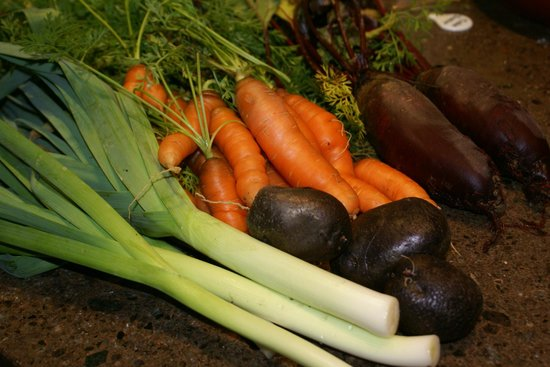 The Summit Lodge: fresh veg from our garden