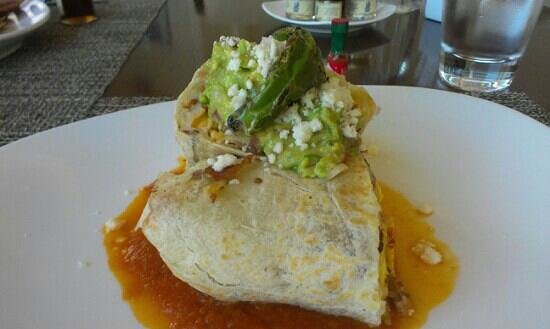 Raya at The Ritz-Carlton: breakfast burrito under $18.00