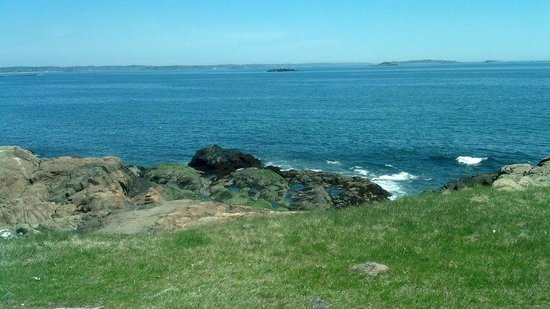 Crowninshield Island: Ocean view from top of hill