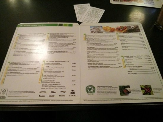 Holiday Inn Buffalo International Airport : Restaurant Menu