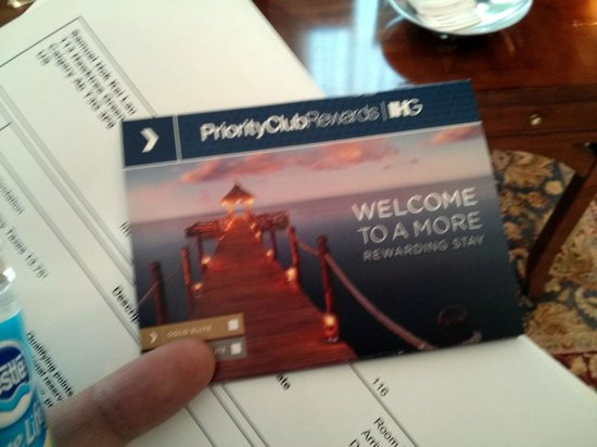 Holiday Inn Buffalo International Airport: Priority Club Member Welcome
