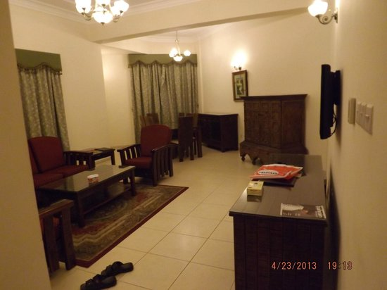 Ramee Palace Hotel : Receiving area as well as our dinning hall
