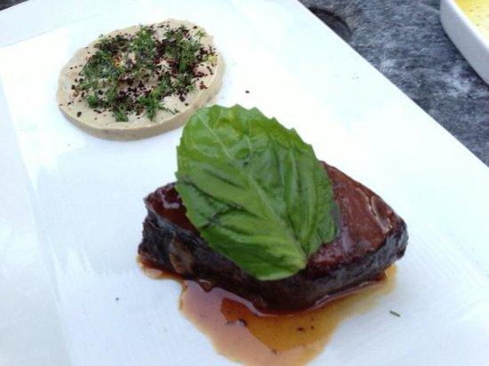 Oleana : Sultan's delight - tamarind beef and eggplant puree