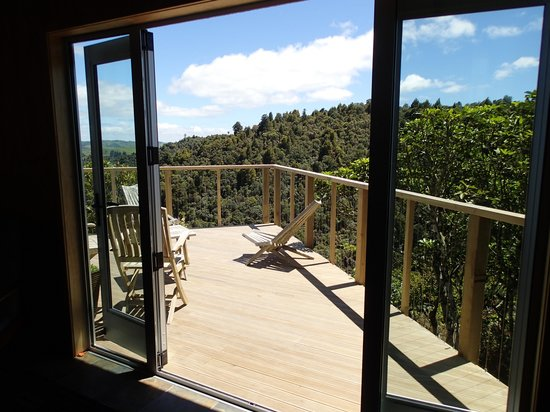 Wood Pigeon Lodge: view to deck