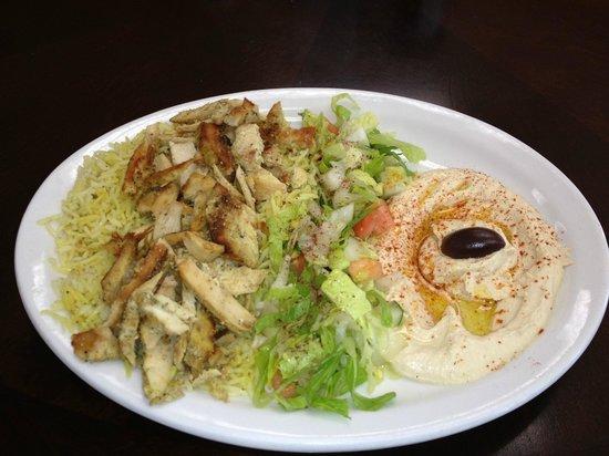 Petra Falafel House : Chicken Shawerma Platter