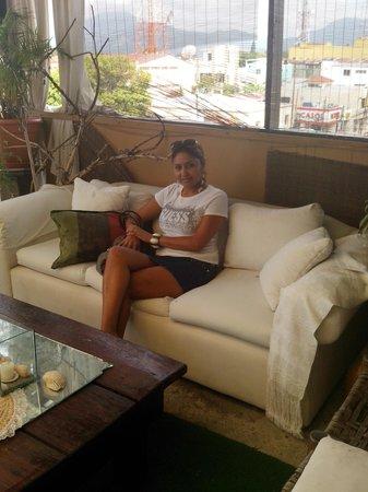 Hotel Casa de España: rooftop terrace seating.