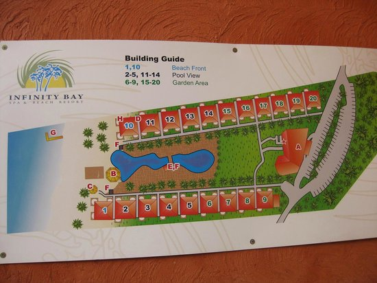 Hotel Map Picture Of Infinity Bay Spa And Beach Resort