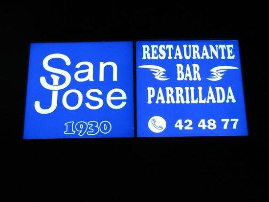Restaurante Bar Parrillada San Jose: Street Sign