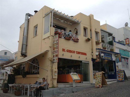 El Greco Taverna: the two taverna competing for business