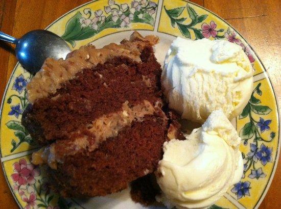 Miller's Landing Resort : Home made German Chocolate Cake.  Yum!!