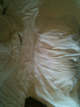 Hotel President: lumpy pillow not out in slip properly