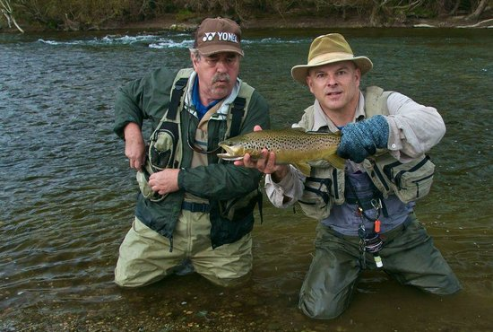 Wild Angler - Day Trips: Casey and I with a nice Brown
