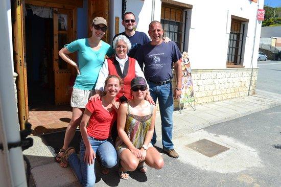 Gorafe, España: Le groupe